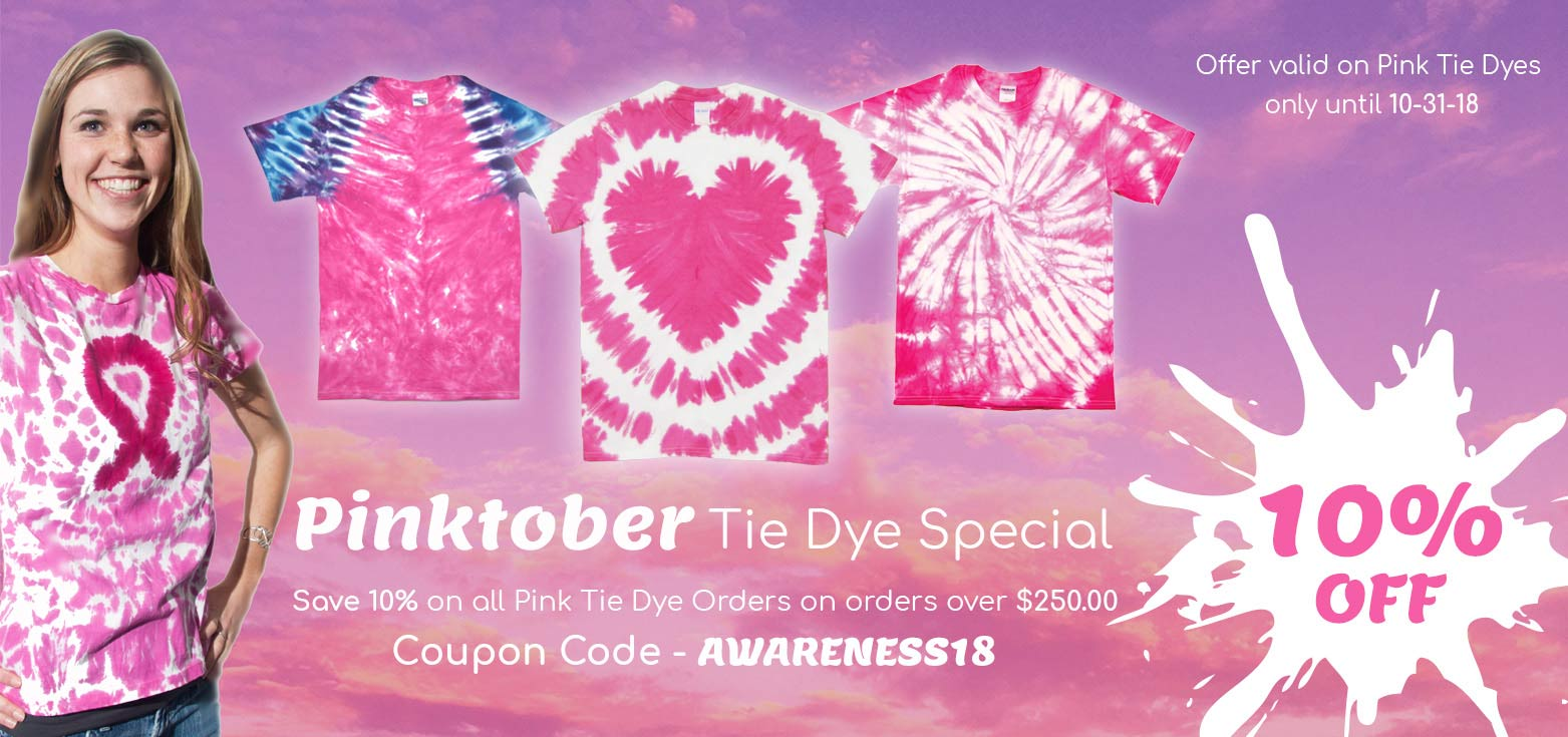 Pink TieDye Specials at TieDyeWholesaler