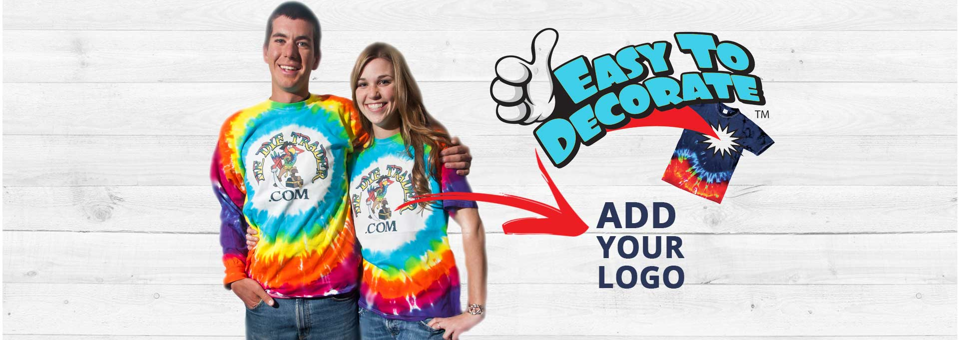 Add your logo to T-Shirt at Tie Dye Wholesaler