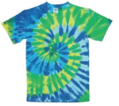 Green coral swirl tie dye wholesaler for Custom tie dye shirts no minimum