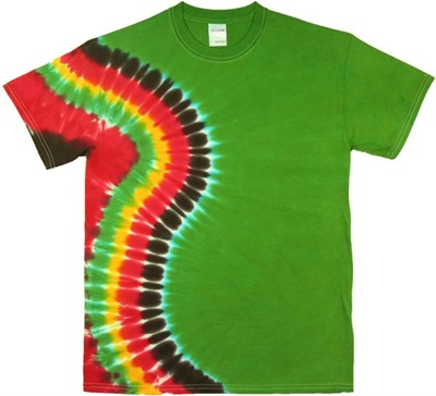 Jamaican cascade tie dye wholesaler for Custom tie dye shirts no minimum