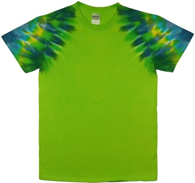Bright green clipper tie dye wholesaler for Custom tie dye shirts no minimum