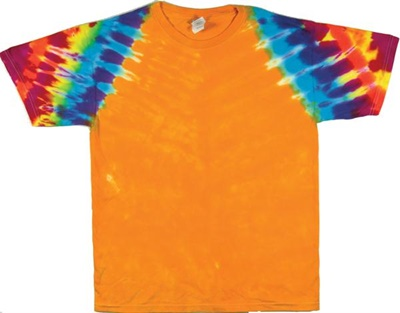 Sunset rainbow clipper tie dye wholesaler for Custom tie dye shirts no minimum