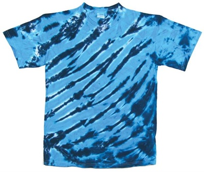 Image for Turquoise/Navy Zebra Stripe