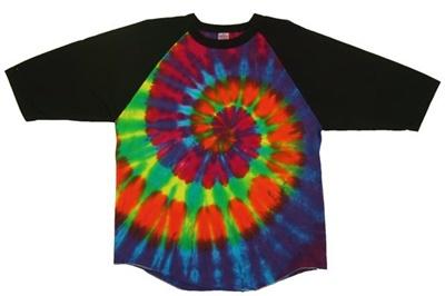 Image for Intense Rainbow Swirl Raglan
